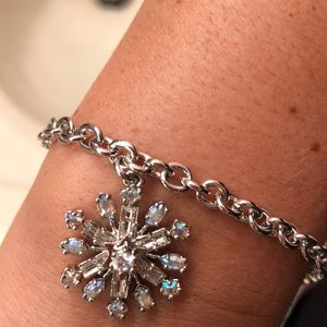 Juicy Couture snowflake charm bracelet
